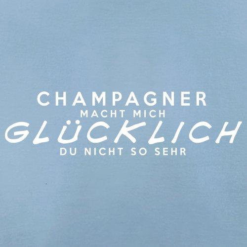 Champagner macht mich glücklich - Damen T-Shirt - 14 Farben Himmelblau