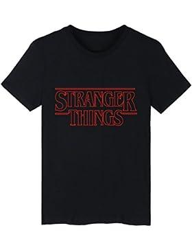 EMILYLE Divertido Stranger Things Camiseta Demogorgon Days Eleven Logo T-Shirt Manga Corta Tee de la Serie de...