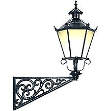 APAC Leuchten STADT 11W Historische Leuchte mit Wandarm Rose