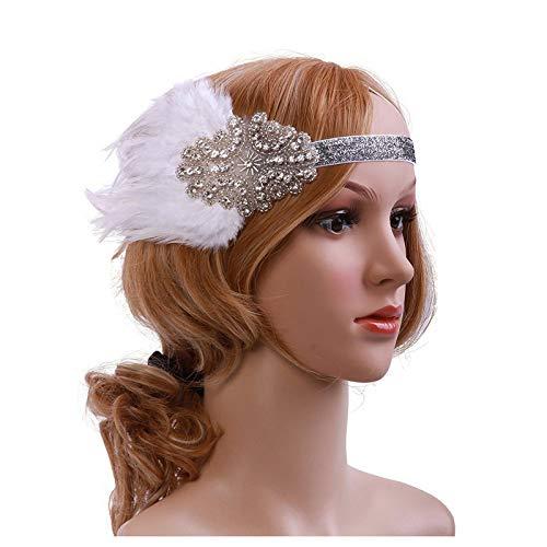 Epinki Damen 1920er Jahre Zubehör Set Flapper Kostüm Feder Stirnband 20er Jahre Halloween Kostümzubehör (1920 Paare Kostüm Ideen)