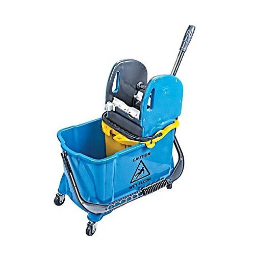 aviva-star-single-bucket-trolley-with-lux-press-in-each-color