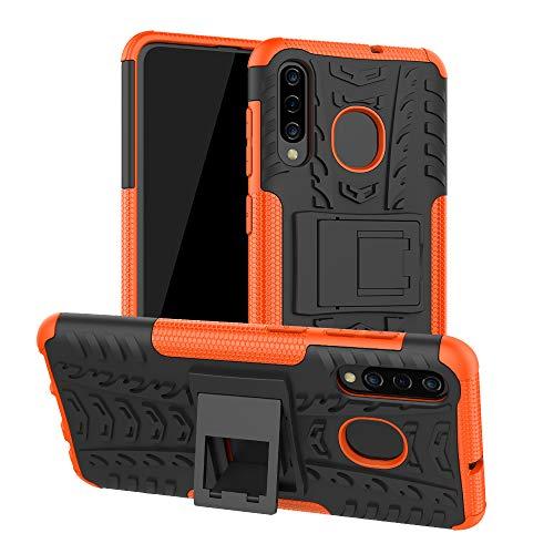 COVO® Samsung Galaxy A50 Hülle Hybrid Armor Schutzhülle Anti Wrestling Travel Essential Faltbare Halterung Schutzabdeckung hüllen für Samsung Galaxy A50(Orange)