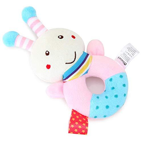 TTQIAOHUA Plüschtier Baby Stick Rassel Baby Sicherheit Spielzeug Kind Komfort Hand Haltegriff Mutter Und Kind Liefert 13X9 cm Biene