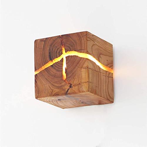 GXFXLP Gebrochenes Holz Wandleuchte Natürliche Ursprüngliche Kreative Massivholz LED Bett Ganglichter Dekorative Nachtlicht Kommerziellen Holz Restaurant Cafe Club Licht -