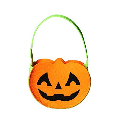 Kürbis Candy Bag Trick or Treat Taschen Non-Woven-Gewebe-Geschenk-Taschen mit Griff für Kinder Halloween-Kostüm-Party (Non Pc Kostüm)