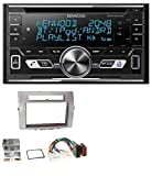 caraudio24 Kenwood DPX-5100BT Aux CD 2DIN MP3 Bluetooth USB Autoradio für Toyota Corolla Verso 04-09 Silber