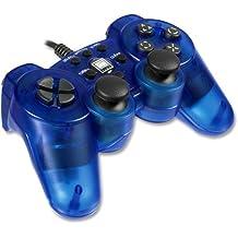 Speedlink Strike² Gamepad für Playstation 2 (Vibration) transparent blau
