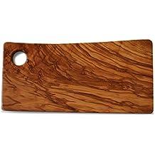 Tagliere per la preparazione di cibi e presentazione–Premium naturale in legno di ulivo tagliere, made in Italy