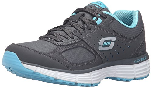 Skechers Sport Ramp Up Fashion Sneaker Charcoal/Turquoise