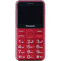 """Panasonic KX-TU150 - Teléfono móvil Dual SIM (Pantalla DE 2.4"""", 3G, Memoria de 2 GB, botón de Emergencia) Color Rojo"""