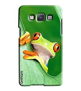 Omnam Frog Giving Pose Out Of Leaves Printed Designer Back Cover Case For Samsung Galaxy A5