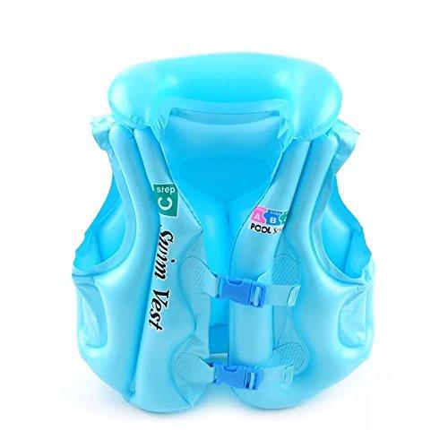 NWHEBET Kinder Aufblasbare Schwimm Schwimmweste Sicherheits Schwimmweste Kinder Ausbildung Schnorchel Weste -