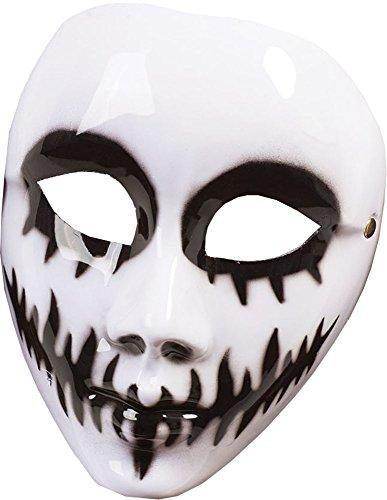 Venom Damen Kostüm - Damen Tag der Toten Halloween Kostüm Zubehör weiß Venom Maske ( g / F)