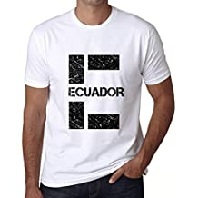 One in the City Hombre Camiseta Vintage T-Shirt Gráfico Letter E Countries and Cities