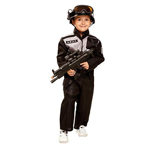 My Other Me Me-202665 Disfraz SWAT para niño Color negro 5-6 años Viving Costumes 202665