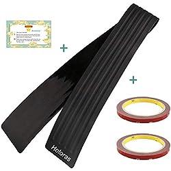 Holoras Protection de pare-chocs arrière en caoutchouc anti-rayures, Autocollants universels pour voiture, camionnette, SUV (90 x 8 cm)