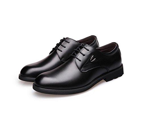 New England / Leder Business Schuhe / Runde Spitze Verschluss / Hochzeit Schuhe große Größe Casual Schuhe Black