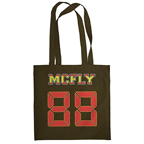 TEXLAB - McFly 88 - Stoffbeutel, (In Zukunft Mcfly 3 Die Zurück Kostüm Marty)