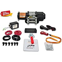 Cabrestante Electrico 2045Kg 12v Winch Cabestrante con Mando Inalámbrico y Placa de Montaje