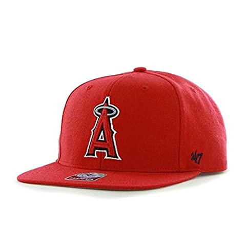 47 Unisex MLB Los Angeles Angels Sure Shot Captain Baseball Cap, Red, One Size