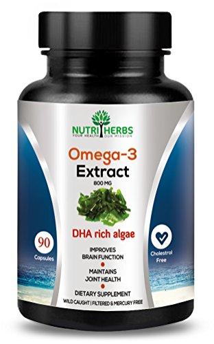 Nutriherbs Omega 3 ( Dha Rich Algae Supplement ) 800...