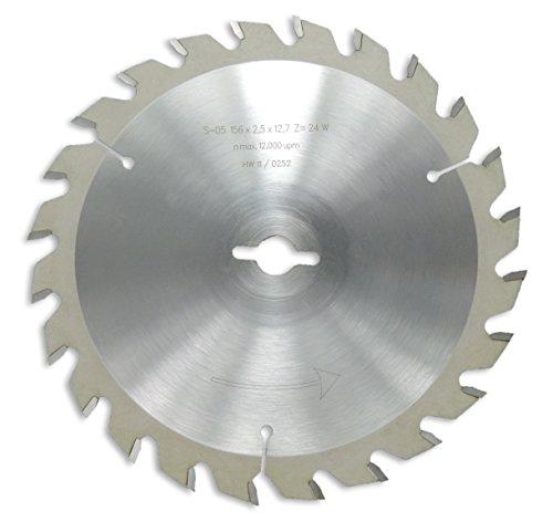 Preisvergleich Produktbild HM / HW Sägeblatt mit Wechselzahn 156 x 12,7 mm mit 24 Zähnen Made in Germany (GE10)