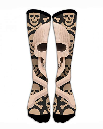 Classic Crew Socks Huge Halloween Skulls Personalized Sport Athletic Socks Long Tube Socks Stockings Long (Halloween In England Für Kinder)