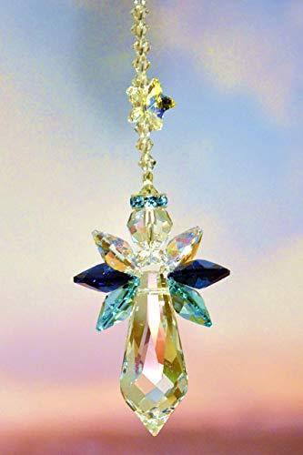 Schutzengel mit Sternchen - handgearbeitet aus Kristallen von Swarovski®