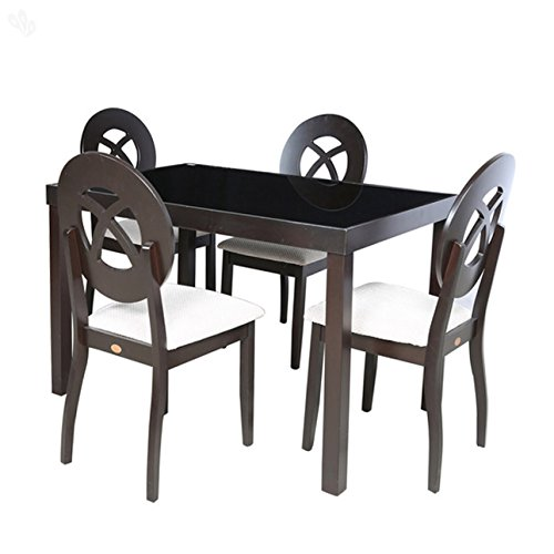 Parin Oslo Four Seater Dining Table Set (Brown)