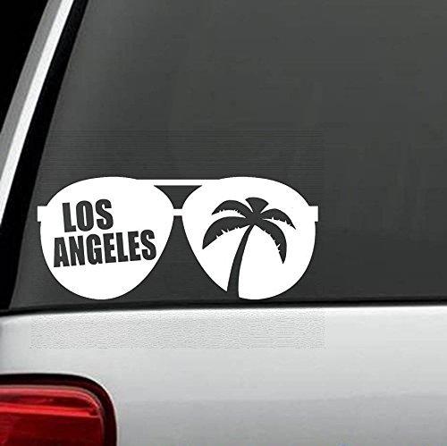 Wandtattoo Schlafzimmer Los Angeles Aviator Sonnenbrille Palme Urlaub Vinyl Aufkleber Aufkleber für Auto LKW SUV Boot Anhänger Die Cut Aufkleber Aufkleber für Windows, Autos, LKWs, Laptops, etc.