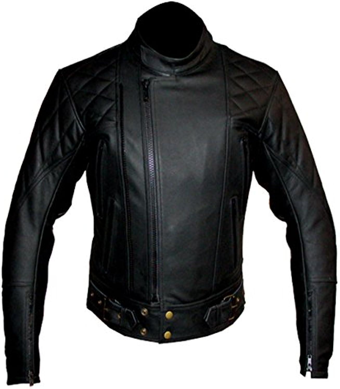 Giacca in pelle CE, di qualità CE, pelle da moto, rinforzata, in pelle bovina 1be4e3