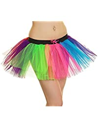 Crazy Chick 3 Layer Clown Rainbow TuTu Skirt Halloween Fancy Dress