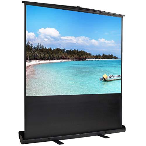Sotech 4:3 163 x 123 cm Full HD 3D Ecran de Projection sur Pied Portable,Écran de Projecteur Blanc Opaque avec étui, autoportatif de