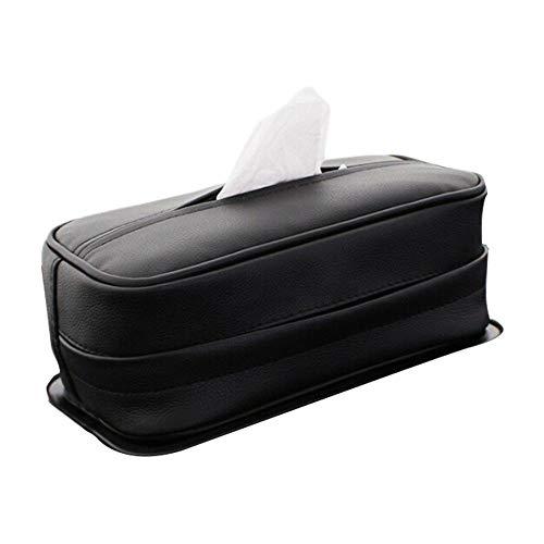 Auto Praktische Aufbewahrungstasche Auto Tissue Box, PU Leder Tissue Holder Serviette Papier Handtuch Fall Abdeckung, Multi-use-Rücksitz Kopfstütze Hängen Serviette Container Reisen mit dem Auto Mesh-serviette