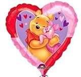Winnie Pooh mit Ferkel Herz Folienballons 18