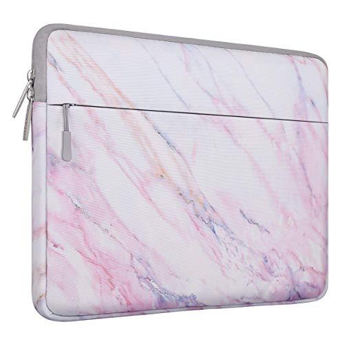 MOSISO Laptophülle Kompatibel mit 13-13,3 Zoll MacBook Pro, MacBook Air, Notebook Computer Canvas Marmor Muster Hülle Sleeve Tasche Schutzhülle Laptoptasche Notebooktasche, Rosa Marmor Muster