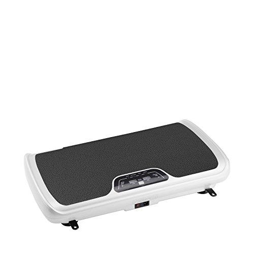 Plataforma vibratoria VibroSlim Tone - Oscilante, Pequeña y Ligera, DVD de ejercicios, 3 Programas, 99 Velocidades, 3 Años de Garantía (Blanco)