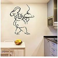 jqpwan French Home Vinyl Wall Stickers Cuisine du Chef Art Wall Sticker Kitchen Wall Decal Three-Dimensional Decoration Accessories 58 * 80cm