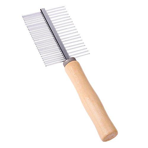 Rrimin Wooden Handle Pet Comb Dog Cat Combs Hair Rake Comb Pet Grooming Hairbrush