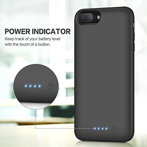 Cover Batteria iPhone 6 Plus/6s Plus/7 Plus/8 Plus,iPosible 8500mAh Custodia Ricaricabile Batteria Esterna Caricabatterie Cover Battery Case per ...