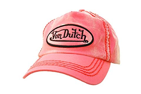 Von Dutch Unisex Pink Von Dutch Denim Trucker Hat-One Size