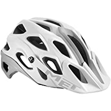 MET adultos casco para bicicleta de montaña Lupo, primavera/verano, unisex, color blanco, tamaño 59-62 cm
