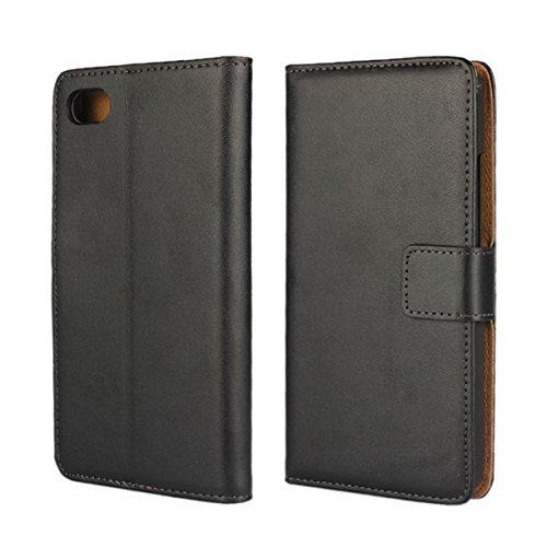 MOONCASE Schwarzberry Z30 Hülle Bookstyle Leder Schutzhülle für Schwarzberry Z30 Flip Cover Etui Tasche Case mit Standfunktion Schwarz