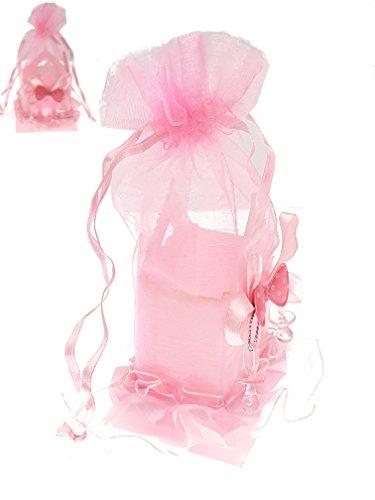 Piccoli monelli ♚portaconfetti nascita battesimo bomboniera bambina conf. da 5 pezzi casetta rosa