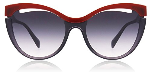Miu Miu Damen 0MU01TS 7J8NJ0 36 Sonnenbrille, Rot (Bordeaux/Transparent Lilac/Pink Violet),
