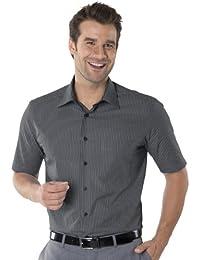 QUALITYSHIRTS Kurzarm Streifen Hemd mit Kent Kragen Gr. 39 - 54