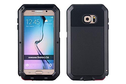 iprotect Samsung Galaxy S6 spritzwassergeschützte Hülle Outdoor Case in Schwarz