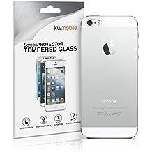 kwmobile Protector de cristal templado de la PARTE TRASERA para > Apple iPhone SE / 5 / 5S < transparente - Calidad superior