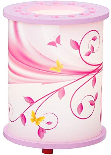 Elobra-Lampada da tavolo fantasia 25/15lampada da tavolo in legno, Rosa 131138