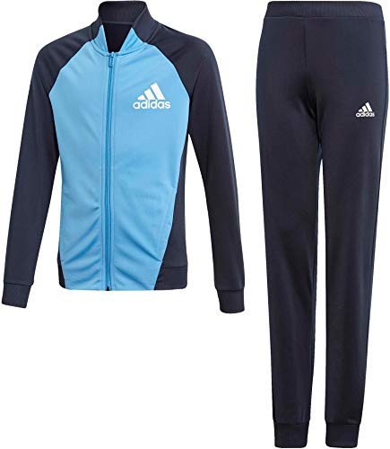 adidas Mädchen Active Trainingsanzug, Legend Ink/Lucky Blue/White, 128
